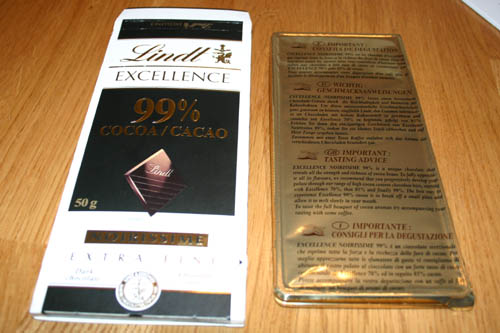 The 99% bar's cardboard and inner foil container