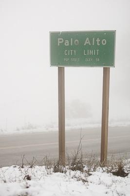 Snow in Palo Alto, CA