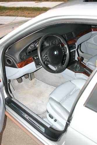 The BMWs interior