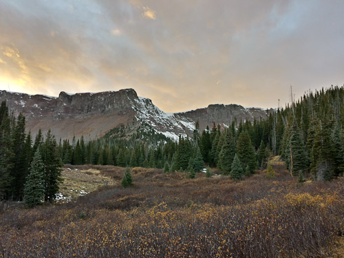 Flat Tops Wilderness at sunset